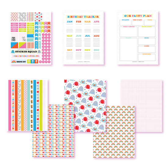 It's My Sticker Party Planner Printables