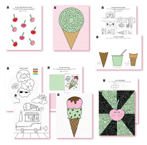 Sundae Fun Day Kids Printables