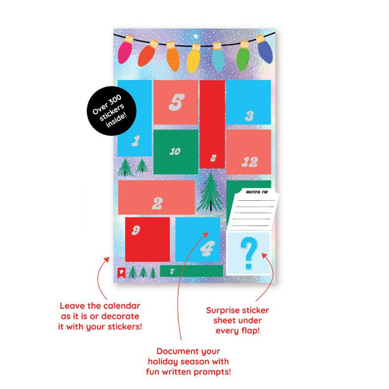 PRE-SALE: 12 Days of Christmas Sticker Advent Calendar