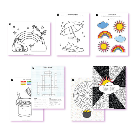 Chasing Rainbows Kids Printables