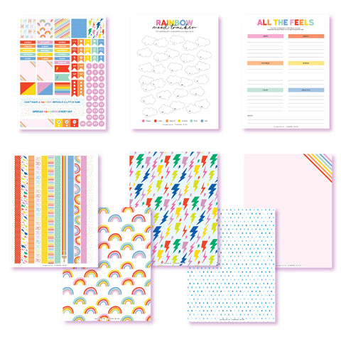 Color Your Mood Planner Printables