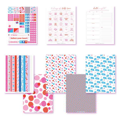 Follow Your Heart Planner Printables