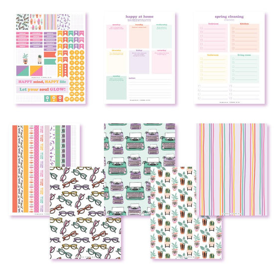 Let's Get Happy Planner Printables