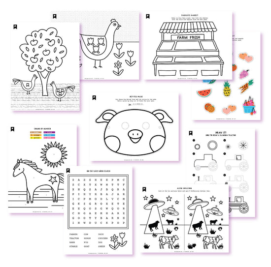 Farm Fresh Fun Kids Printables
