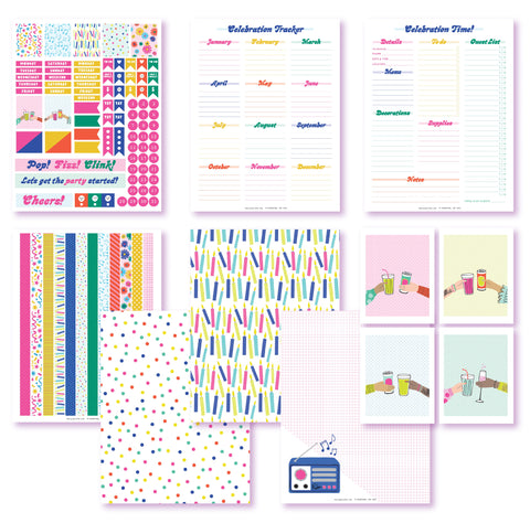 Celebrate Good Times Planner Printables
