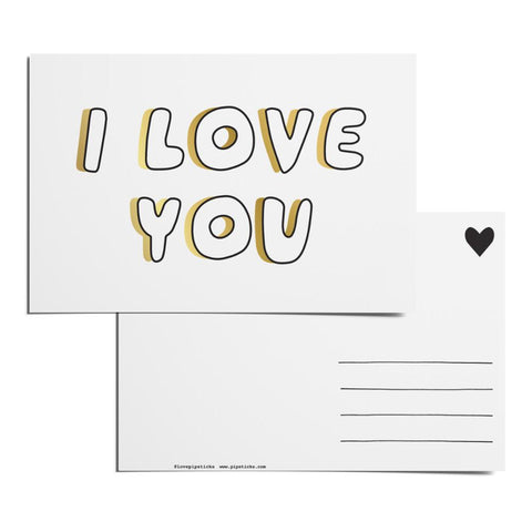 Color-in I Love You Postcard Pack