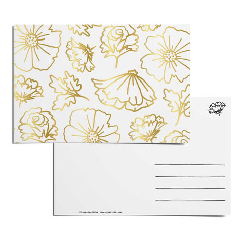 Floral Figures Postcard Pack