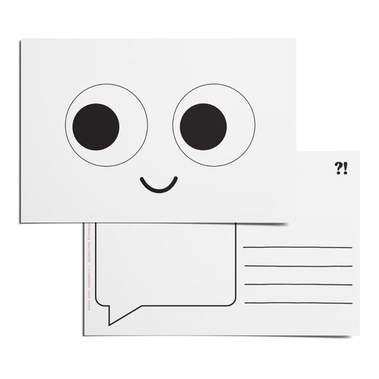 Color-in Googly Eyes Postcard Pack
