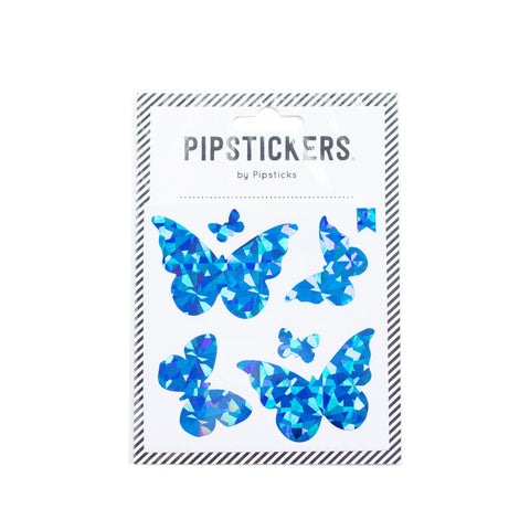 Blue Holographic Butterflies