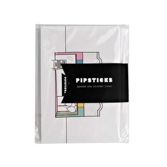 Color-in Pipsticks Shop Postcard 20 Pack