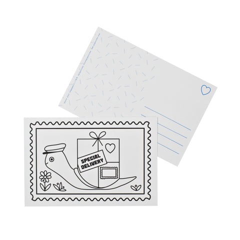 Color-in Special Delivery Postcard Pack