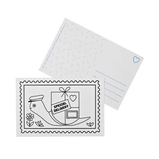Color-in Special Delivery Postcard 20 Pack
