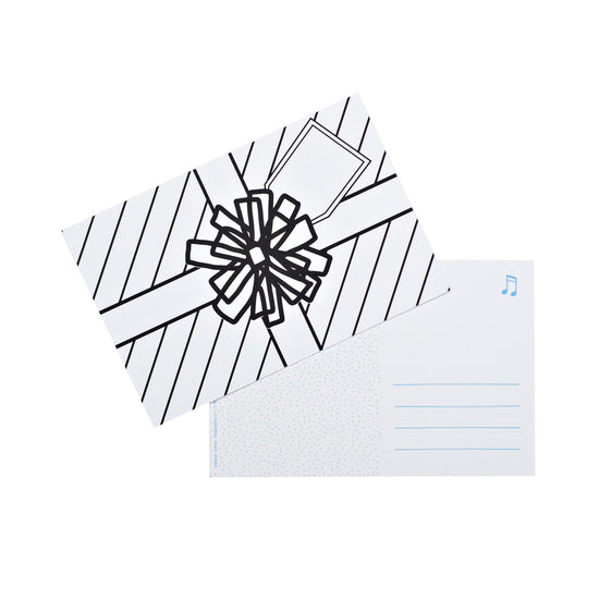 Color-in Present Postcard 20 Pack