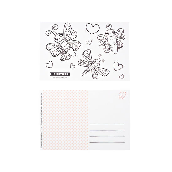 Color-in Butterflies Postcard 20 Pack