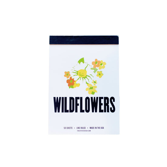 Wildflowers Tablet Notepad
