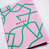 Pink Graphic Shapes Notebook by The Completist
