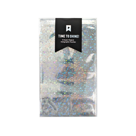 Large Silver Holographic Pouches