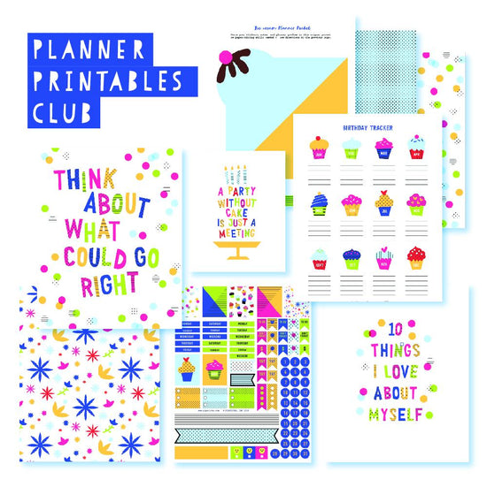 It's My Party Planner Printables