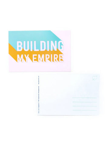 Building My Empire Postcard 20 Pack