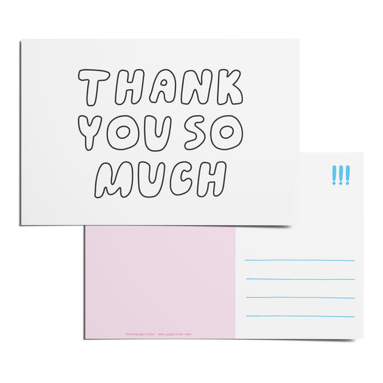 Color-in Thank You Postcard Pack
