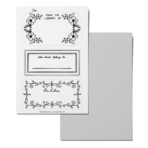 Color-in Bookplate Card Pack