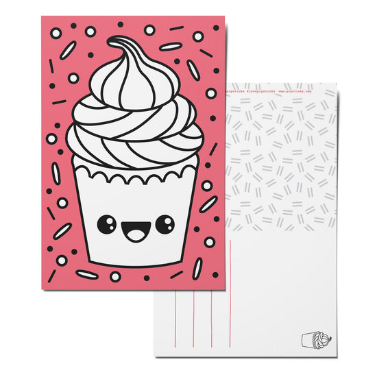 Color-in Cupcake Cutie Postcard Pack