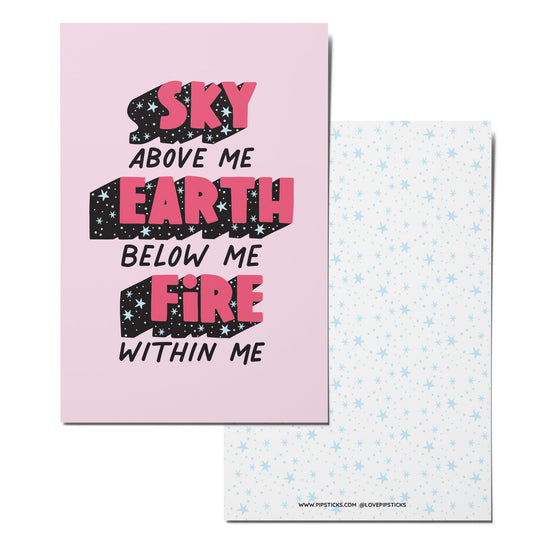 Sky, Earth & Fire Notecard Pack