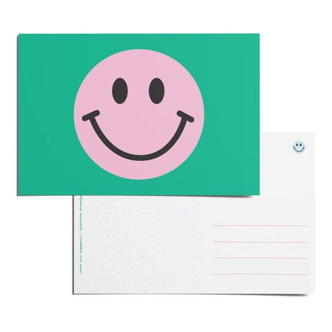 Smiley Pink Postcard Pack