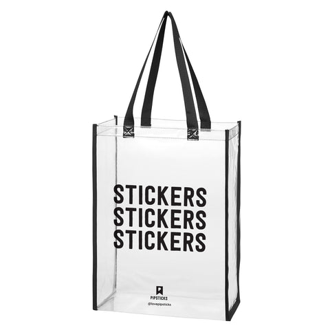 Stickers Clear Tote Bag by Pipsticks