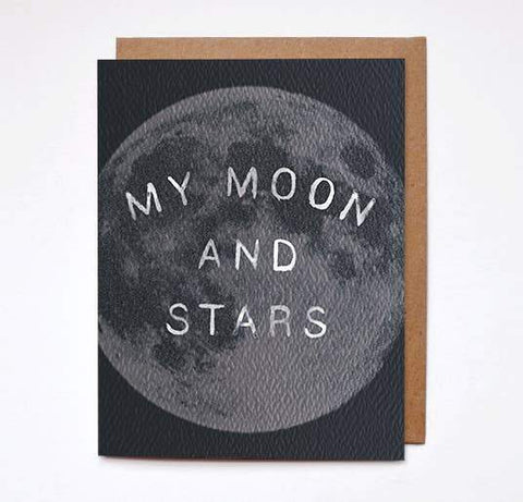 My Moon & Stars Greeting Card by Daydream Prints