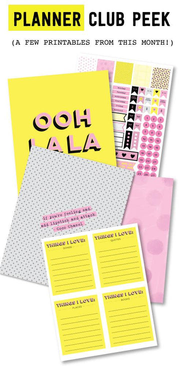 Feelin' The Love Planner Printables