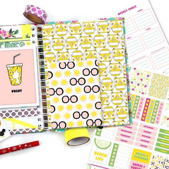 Girls Just Wanna Have Sun Planner Printables