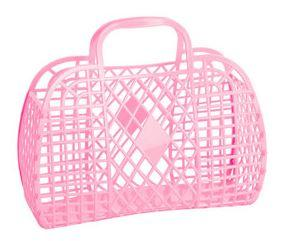 Sun Jellies Retro Basket - Bubblegum Pink - Large