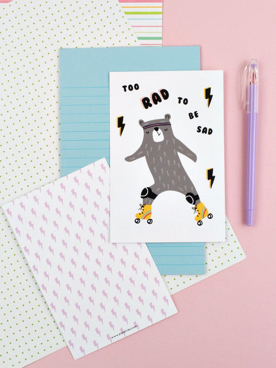 Too Rad To Be Sad Quote Card 20 Pack