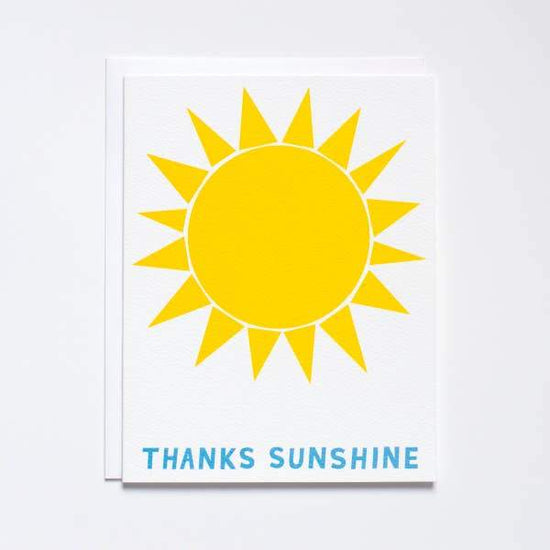 Thanks Sunshine Greeting Card by Banquet Workshop