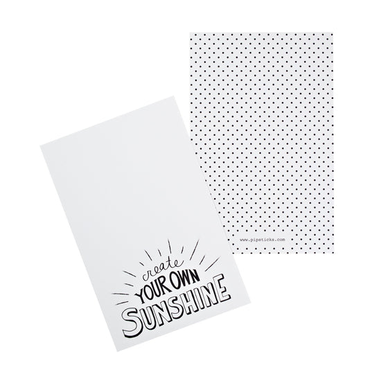 Create Your Own Sunshine Quote Card Pack