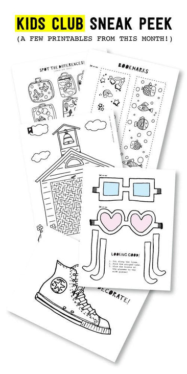 Too Cool For School Kids Printables