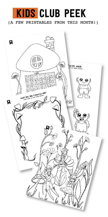 Into The Woods Kids Printables