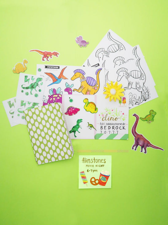 Color-in Dinosaurs Postcard 20 Pack