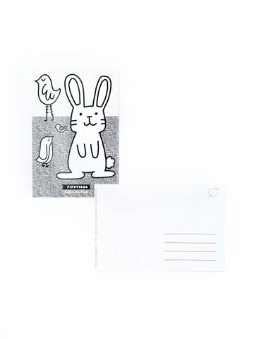 Color-in Bunny Postcard Pack