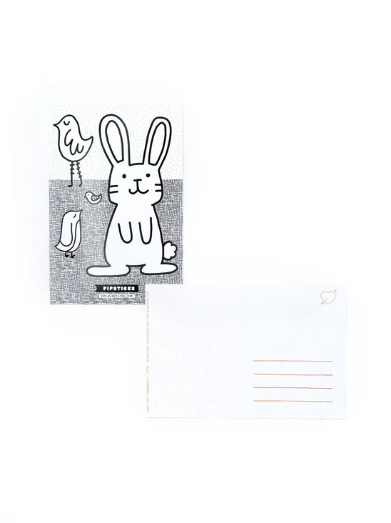 Color-in Bunny Postcard 20 Pack