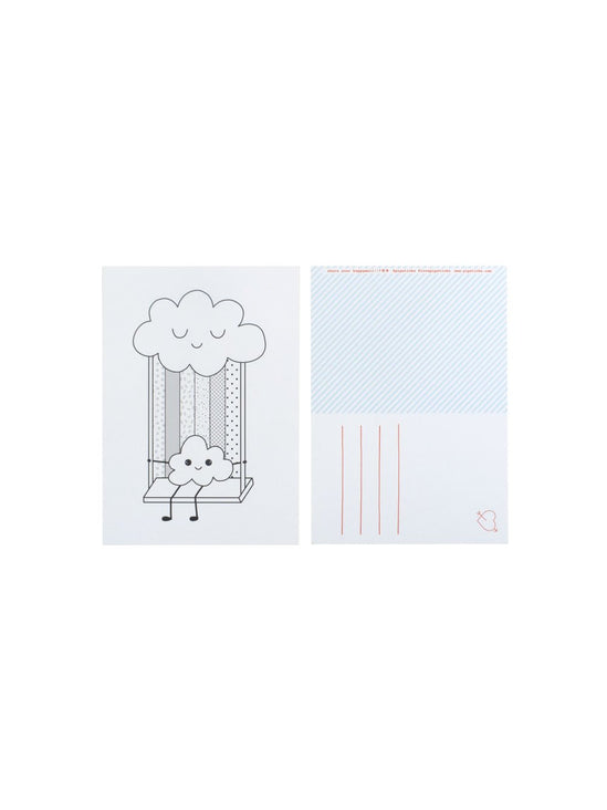 Color-in Rainbow Swing Postcard 20 Pack