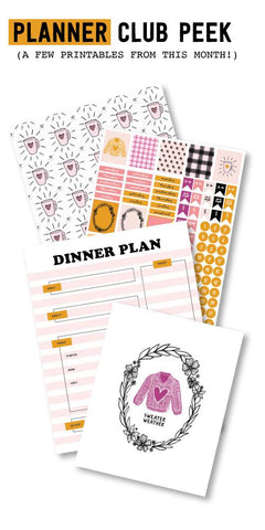 Be Thankful Planner Printables