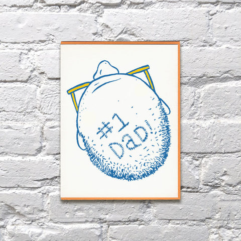 Bench Pressed - #1 Dad Card