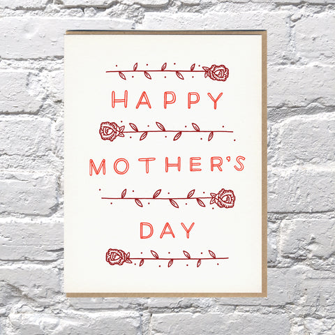 Bench Pressed - Mother's Day Roses Card