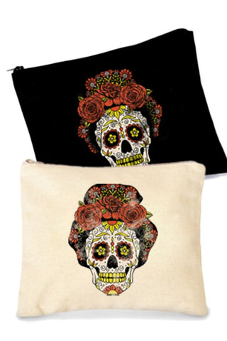 candy skull makeup bag
