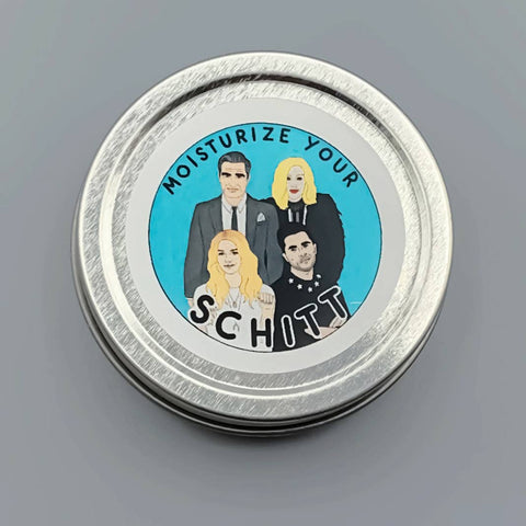 Moisturize your Schitt Lotion Tin