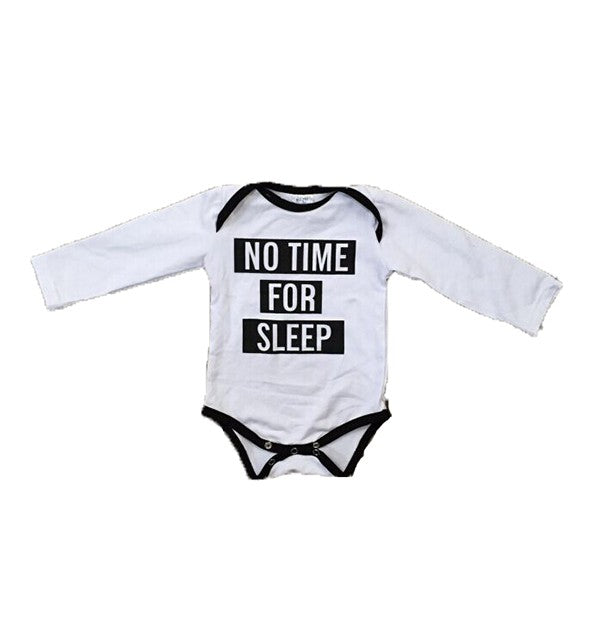 no time for sleep long sleeve onsie