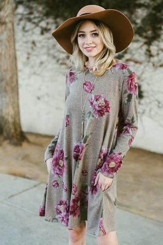 floral sweater dress