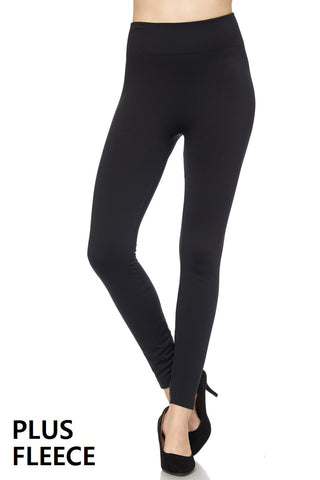 curvy fleece leggings